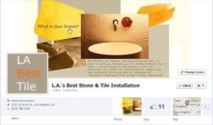 Facebook Cover Photo Design for Tile Contractor