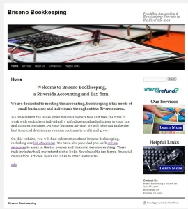 WordPress Website Design for Bookkeeper & Accountant