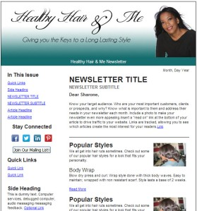 Constant Contact Newsletter Design for Hair Stylist