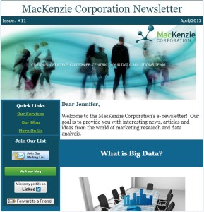 Constant Contact Newsletter Design