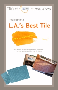 Facebook Welcome Reveal Tab Design for Tile Contractor
