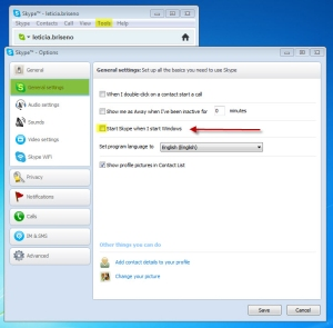 How to turn off Skype from starting whenever I start mu computer