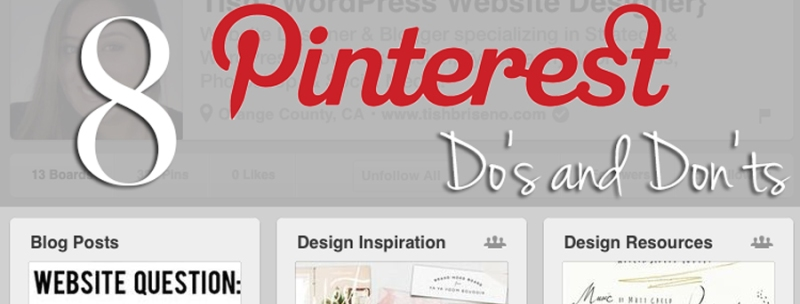 8 Pinterest dos and donts