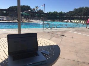 Working from the Pool