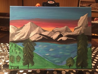 I took painting as an activity