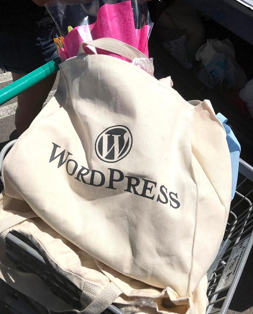 WordPress tote bag